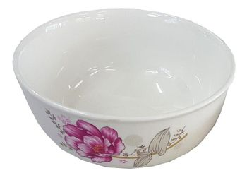 Salatiera D12.6cm, flori roz, din ceramica