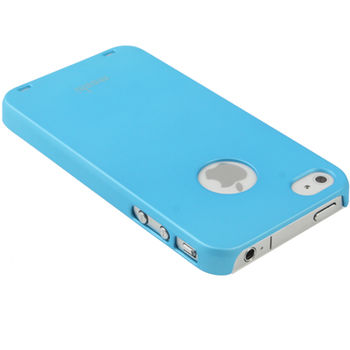 Чехол Moshi Soft-touch + защитная пленка для iPhone 4 / 4S голубой