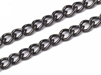 Lanț pentru poșete, 120 cm, nichel negru