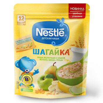 купить Каша 5 злаков яблоко-груша-банан с молоком Nestle Шагайка, с 12 месяцев, 200г в Кишинёве