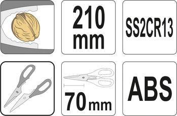 купить Многофункциональные кухонные ножницы, 210 мм в Кишинёве