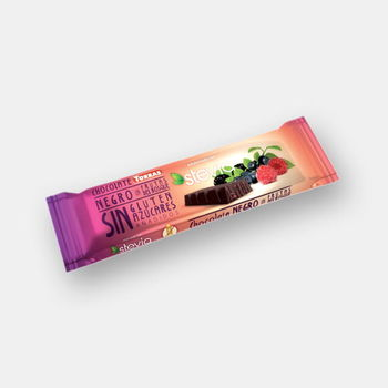 Шоколад темный со стевией и лесными ягодами без глютена Torras 35г