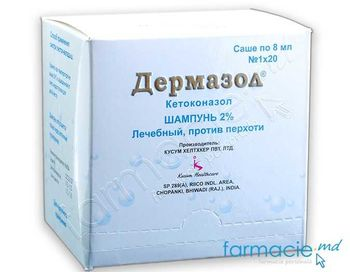 купить Dermazole® sampon 2% 8 ml N20 (Ketoconazol) в Кишинёве