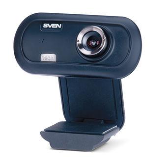 Camera SVEN IC-950 HD, Microphone, 720p HD pixel CMOS sensor, 5G glass lens, UVC, USB2.0, Black