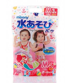 купить Трусики для плаванья Moony M (7-10 кг) для девочек 3 шт в Кишинёве