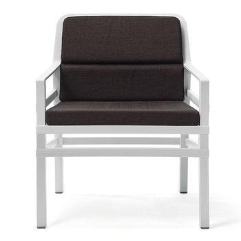 Кресло с подушками Nardi ARIA FIT BIANCO caffe 40330.00.165.FIT (Кресло с подушками для сада и терас)