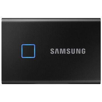 1TB Samsung Portable SSD T7 TOUCH MU-PC1T0K/WW External SSD, Black, Fingerprint, Read 1050 MB/s, Write 1000 MB/s, USB 3.2/Type-C (SSD extern/внешний SSD)