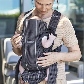 купить Анатомический рюкзак-кенгуру BabyBjorn Mini Anthracite 3D Mesh в Кишинёве