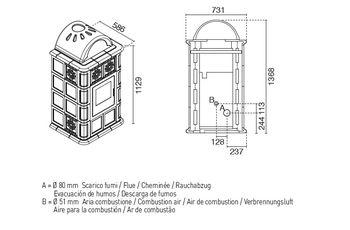 купить Печь пеллетная - ROSY 13 кВт в Кишинёве