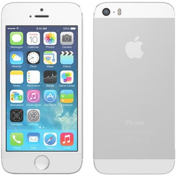 Apple iPhone 5s 64GB, White/Silver