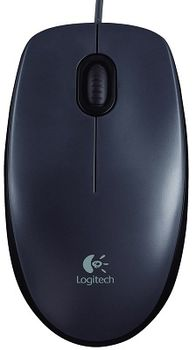 Mouse Logitech M90, Optical, Dark, USB