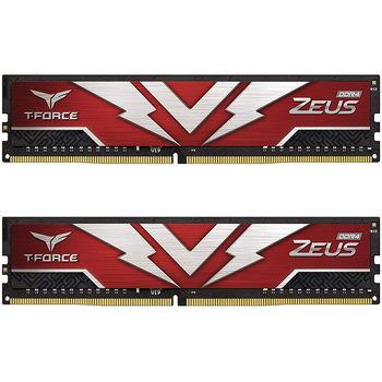 Оперативная память 16GB DDR4 Dual-Channel Kit Team Group T-Force Zeus TTZD416G3200HC20DC01 16GB (2x8GB) DDR4 PC4-25600 3200MHz CL20, Retail (memorie/память)