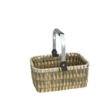 купить Корзина из деревянной стружки, каркас и ручка из аллюминия 410х310х190 мм в Кишинёве