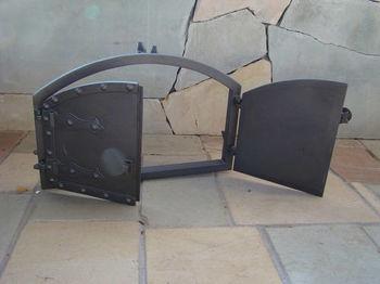 Дверца чугунная глухая двустворчатая HUNGARIAN
