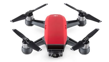 (149290) DJI Spark Fly More Combo (EU) / Lava Red - Portable Drone, RC, 12MP,  FHD 30fps camera with gimbal, max. 4000m height/50kmph speed, flight time 16min, Battery 1480mAh, 300g (2 extra batteries, propellers, guards, charging hub, bag)