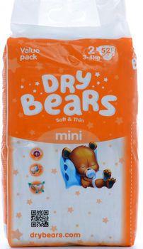 cumpără Dry Bears Soft&Thin 2 Mini (3-6 кг) 52 шт. în Chișinău