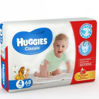 cumpără Huggies scutece Classic Mega 4, 7-18 kg, 68 buc. în Chișinău