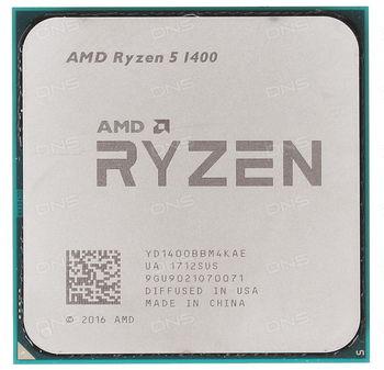 AMD Ryzen 5 1400 (4C/8T), Socket AM4, 3.2-3.4GHz, 8MB L3, 14nm 65W, BOX (with Wraith Stealth 65W Cooler)