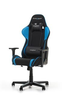 Gaming Chairs DXRacer - Formula GC-F11-NB-H1, Black/Black/Blue - Fabric & PU, Gamer weight up to 100kg / growth 145-180cm, Foam Density 52kg/m3, 5-star Aluminum IC Base, Gas Lift 4 Class, Recline 90*-135*, Armrests: 3D, Pillow-2, Caster-2*PU, W-23kg