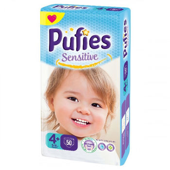 купить Pufies подгузники Sensitive 4+, 9-16 кг 50 шт в Кишинёве