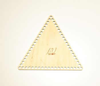 Formă din lemn triunghi, 20 cm