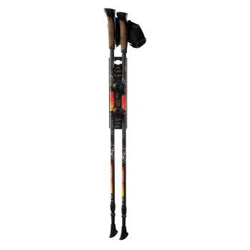 купить Треккинговые палки SUPERNOVA BLACK/ORANGE 85-135 cm в Кишинёве