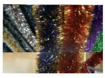 Мишура елочная 2mX8.5cm двухцветная
