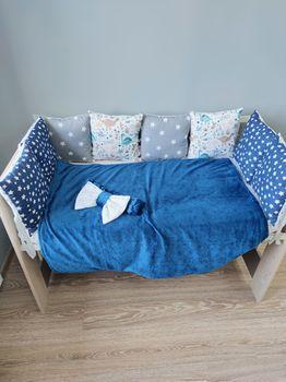 Бортики в кроватку Pampy Dark blue