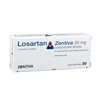 cumpără Losartan 50mg comp. film. N15x2 (Zentiva) în Chișinău