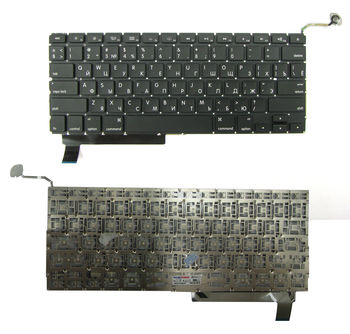 "Keyboard Apple Macbook Pro 15"" A1286 (2009-2012) w/o frame ""ENTER""-small ENG/RU Black"