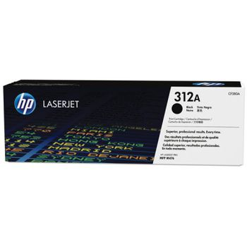 HP 312A (CF380A) Black Original LaserJet Toner Cartridge (up to 2400 pages), for  HP LaserJet Pro M476 Series