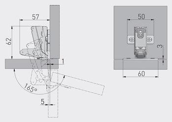 Balama 165º fără amortizor GTV