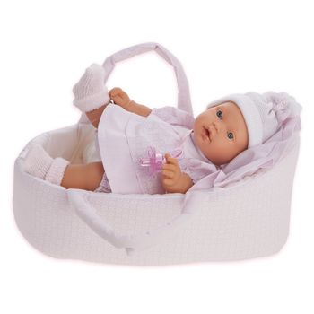 Кукла младенец в люльке 27 см Код 1114