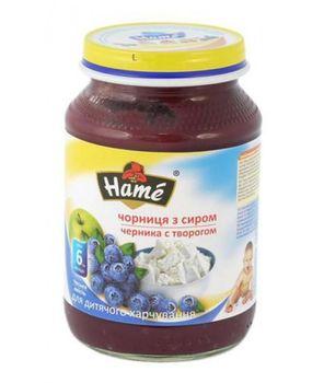 купить Hame пюре черника с творогом 6+мес. 190г в Кишинёве