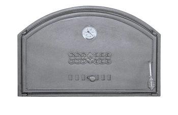 Дверца чугунная глухая с термометром левая DCHD1T