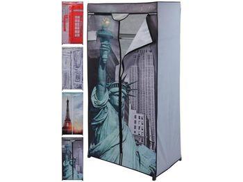 """купить Шкаф-органайзер для хранения 2секции 160X75X45cm, """"города"""" в Кишинёве"""