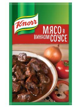купить Приправа для тушения Мясо в винном соусе Knorr, 19 г в Кишинёве