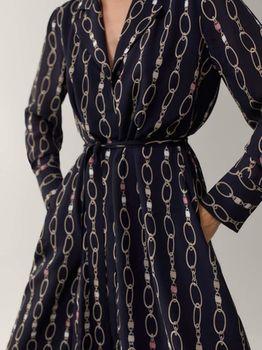 Платье Massimo Dutti Черный с принтом 6651/501/800
