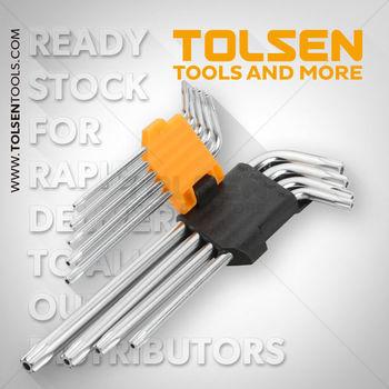 купить Ключи звездочки Torx T10-T50  9 шт длинные с футляром Tolsen в Кишинёве