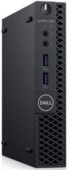 DELL OptiPlex 3060 MFF lntel® Core® i5-8500T (Six Core, up to 3.50GHz, 9MB), 8GB DDR4 SODIMM, 256GB M.2 SSD, no ODD, lnteI® UHD630 Graphics, Wi-Fi/AC-MU-MIMO/BT4.1, TPM, 65W PSU, USB mouse, USB KB216-B, Ubuntu, Black