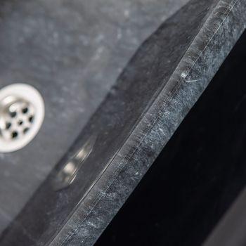купить Раковина Matia, черный мрамор, 48 x 38 x 14 см в Кишинёве