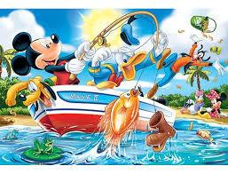 "14221 Trefl Puzzles - ""24 Maxi"" - Fishing / Disney Standrad Characters"