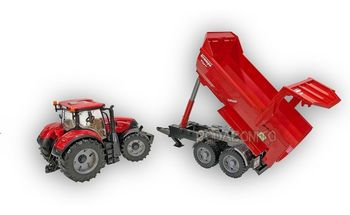 Tractor Case Optum 300CVX cu remorcă Krampe Tandem, cod 42294