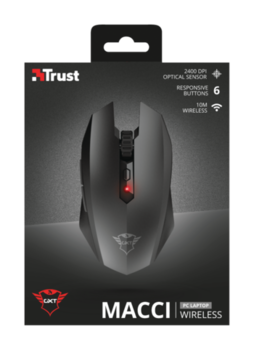 Wireless Mouse Trust GXT 115 Macci Gaming, Black