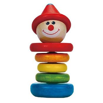 купить Hape Деревянная игрушка-пирамидка Kлоун в Кишинёве