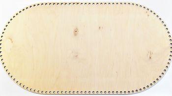 Formă din lemn oval, 67x37 cm