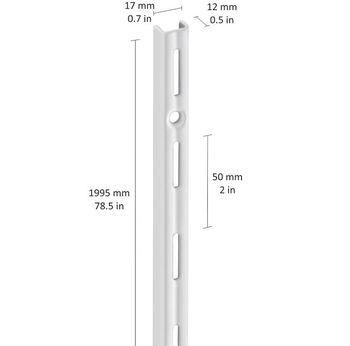 cumpără Profil perete perforație simplă 1995 mm, alb în Chișinău
