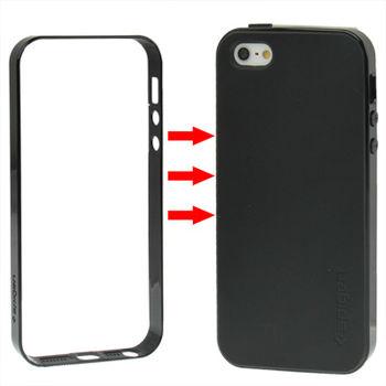 Чехол для iPhone 5 / 5S Hybrid черный с бампером