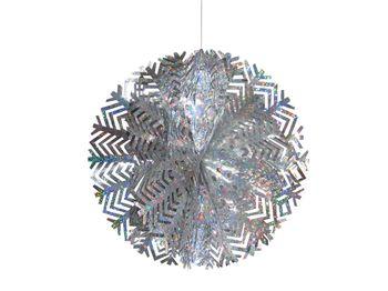Снежинка-шар одноцветная из фольги