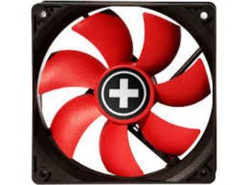 80mm Case Fan - XILENCE XPF80.R.PWM Fan, 80x80x25mm, 1800rpm, <15dBa, 21.8CFM, hydro bearing, 4Pin with PWM,  Black/Red
